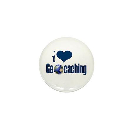 I Love Geocaching Mini Button