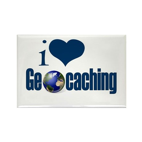 I Love Geocaching Rectangle Magnet