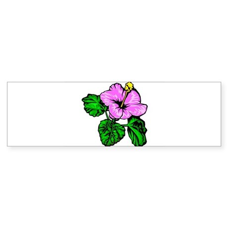 Hibiscus Hawaiian State Flower Bumper Sticker
