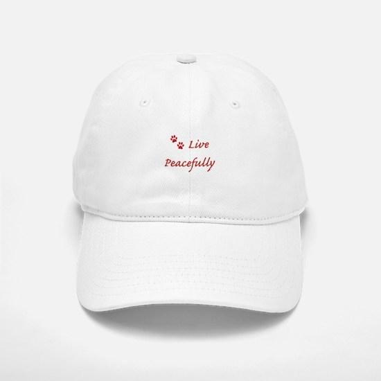 Live Peacefully Baseball Baseball Baseball Cap