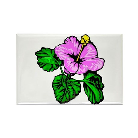 Hibiscus Hawaiian State Flower Rectangle Magnet