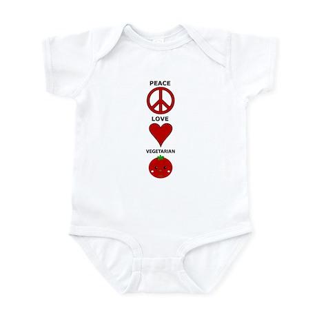 Peace Love Vegetarian Infant Creeper