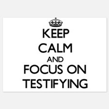 Keep Calm and focus on Testifying Invitations