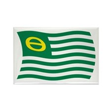 Ecology Movement Flag 2 Rectangle Magnet (100 pack