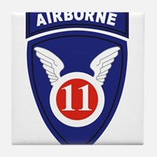 11th Airborne division.png Tile Coaster
