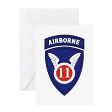11th Airborne division Greeting Cards