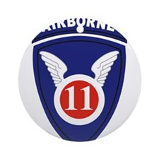 11th Airborne division.png Ornament (Round)