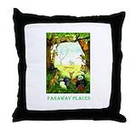 Faraway Places Throw Pillow