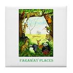 Faraway Places Tile Coaster