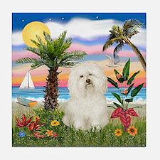 Palms & Bolognese Tile Coaster