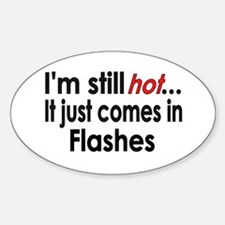 Menopause Hot Flashes Oval Decal