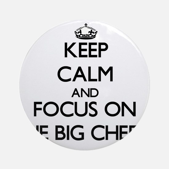 Keep Calm and focus on The Big Ch Ornament (Round)