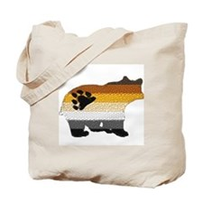PRIDE BEAR W/MOSAIC STRIPES Tote Bag