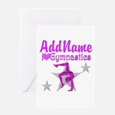 BACK FLIP GYMNAST Greeting Card