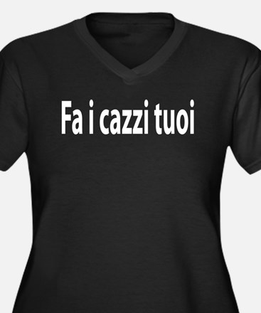 Fa i cazzi tuoi Women's Plus Size V-Neck Dark T-S