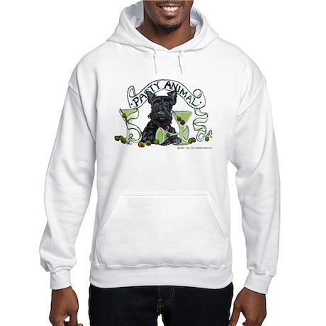Scottish Terrier Martinis Hooded Sweatshirt