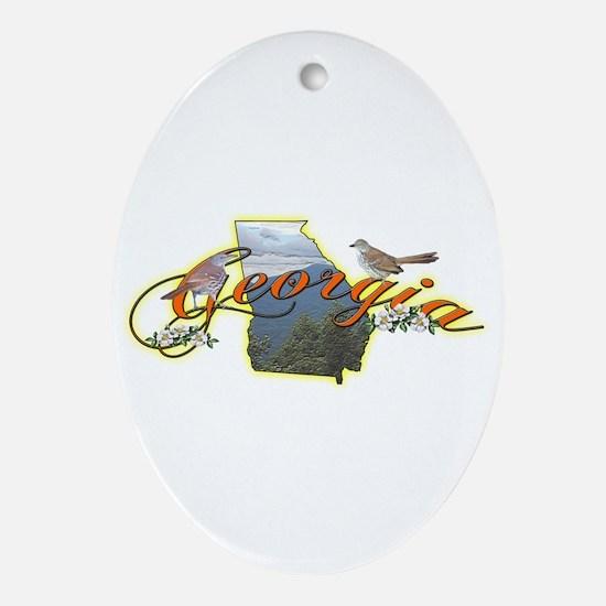Georgia Oval Ornament