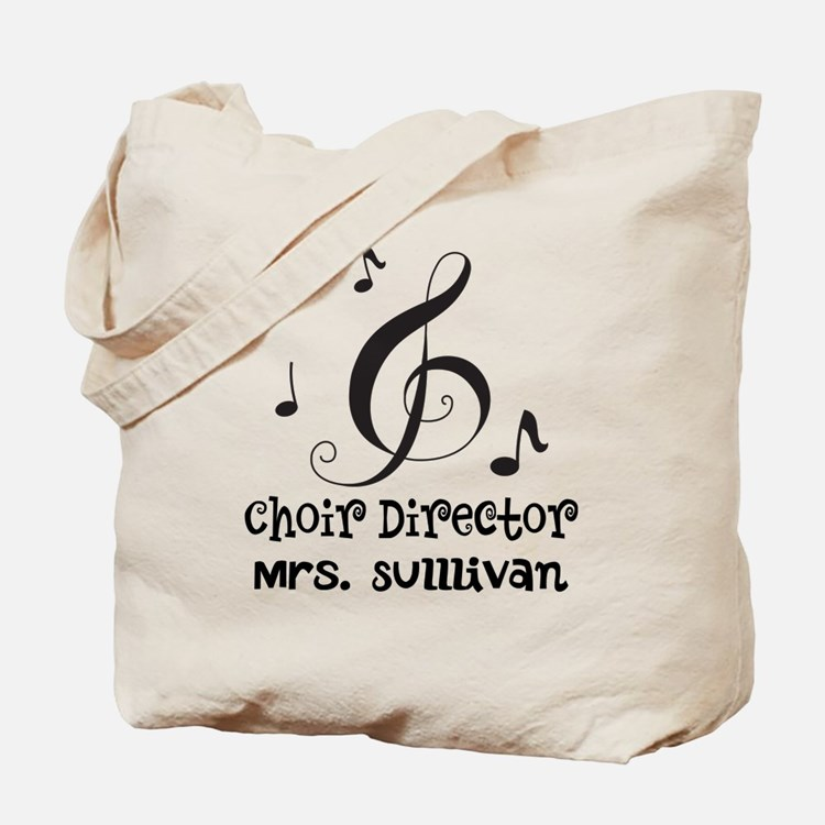 Personalized Choir Director Tote Bag
