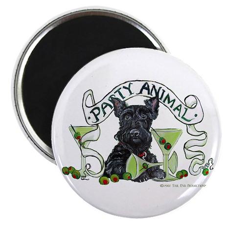 """Scottish Terrier Martinis 2.25"""" Magnet (10 pack)"""