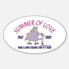 Summer of Love-grandma Oval Decal