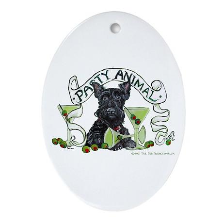 Scottish Terrier Martinis Oval Ornament