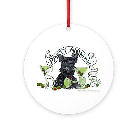 Scottish Terrier Martinis Ornament (Round)