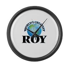 World's Greatest Roy Large Wall Clock