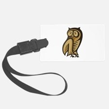 Owl Symbol Color Luggage Tag