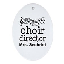 Personalized Choir Director Ornament (Oval)