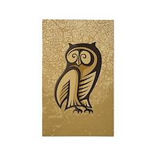Owl Symbol Color 3'x5' Area Rug