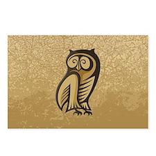 Owl Symbol Color Postcards (Package of 8)