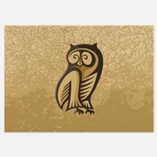 Owl Symbol Color Invitations