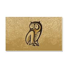 Owl Symbol Color Car Magnet 20 x 12