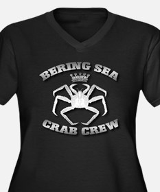 KING CRAB CREW Women's Plus Size V-Neck Dark T-Shi