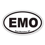 East Moriches EMO Euro Oval Sticker