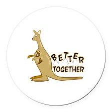 Better Together Round Car Magnet