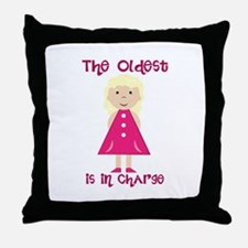 Oldest In Charge Throw Pillow