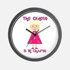 Oldest In Charge Wall Clock