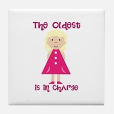 Oldest In Charge Tile Coaster