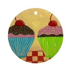 Just The Two of Us: CUPCAKES Ornament (Round)
