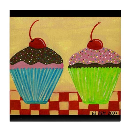 Just The Two of Us: CUPCAKES Tile Coaster