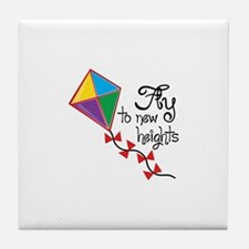 Fly to New Heights Tile Coaster