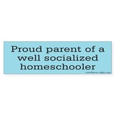 Proud parent of a Homeschooler Bumper Bumper Sticker