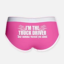 Momma Warned Trucker Women's Boy Brief