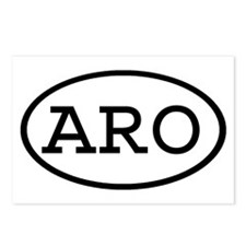 ARO Oval Postcards (Package of 8)