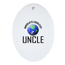 World's Coolest UNCLE Oval Ornament