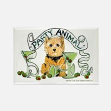 Norwich Terrier Martini Rectangle Magnet