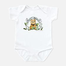 Norwich Terrier Martini Infant Bodysuit