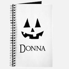 Donna Halloween Pumpkin face Journal