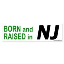 New Jersey Born Bumper Bumper Sticker